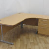 Light Oak 1800 x 1200 Right Hand Workstation