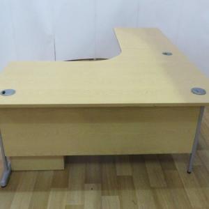 RAG Light Oak 1600W x 2170D Left Hand Workstation