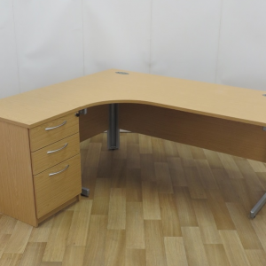 Light Oak 1800 x 1200 Left Hand Workstation